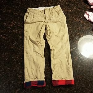 Gap size 7 lined chinos